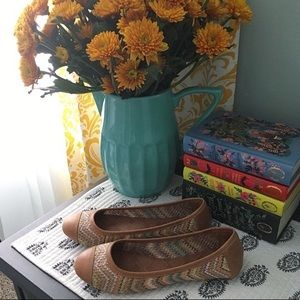 Like New Lucky Brand Brown Leather Ballet Flats